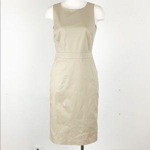 Banana Republic Khaki Chino Sheath Dress size 0
